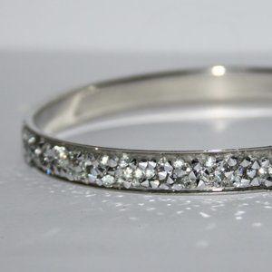 Silver glittery bangle bracelet